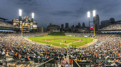 Mlb Photograph - 0101 Comerica Park - Detroit Michigan by Steve Sturgill