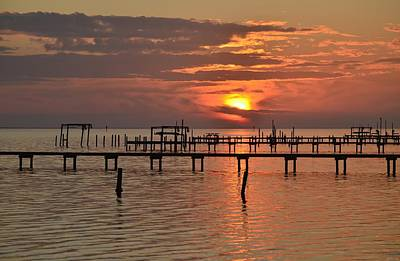 Photograph - 0106 Cloudy Sunset Colors On Sound by Jeff at JSJ Photography
