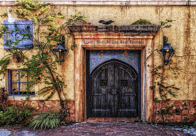 Entrance Door Photograph - Drinking Well by Frank J Benz