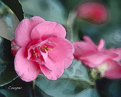 012 Pink Crystal Art Print
