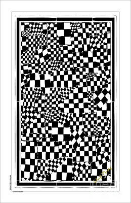 Upscale Mixed Media - 013 Checkerboard by Cheryl Turner