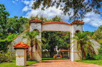 Photograph - Prancing Horse Behind Iron Gate by Frank J Benz