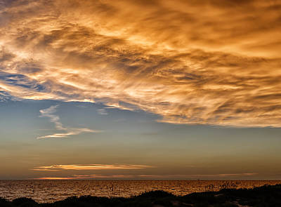 Southwest Florida Sunset Photograph - Wave Cloud Sunset by Frank J Benz