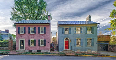 Photograph - Sister Houses - Lexington Kentucky - Circa 1816 by Frank J Benz