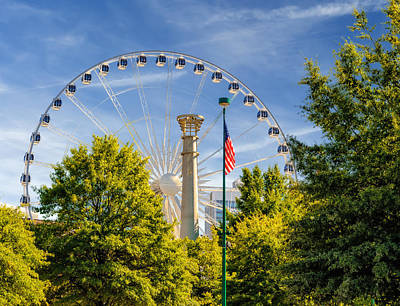 Atlanta Ferris Wheel Art Print