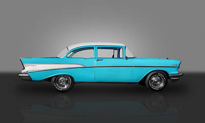 1957 Chevrolet 2 Door Post Art Print