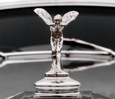 Photograph - 1938 Rolls Royce Hood Ornament by Frank J Benz