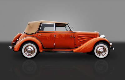 Photograph - 1934 Auburn Phaeton Convertible by Frank J Benz
