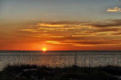 Southwest Florida Sunset Photograph - Warm Glow Of The Sun by Frank J Benz