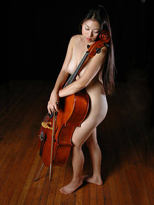 Photograph - 0199the Nude Cellist by Chris Maher