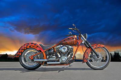 02 Hd Custom Bike Art Print