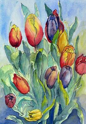 Painting - 02. Tulips by Les Melton