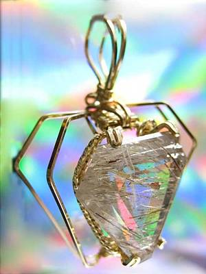 Jewelry - 0216 Golden Needles by Dianne Brooks
