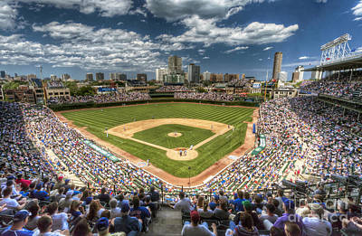 Stadiums Photograph - 0234 Wrigley Field by Steve Sturgill