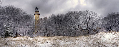 Evanston Photograph - 0243 Grosse Point Lighthouse Evanston Illinois by Steve Sturgill