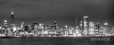 Abstract Graphics - 0248 Chicago Skyline Panoramic by Steve Sturgill