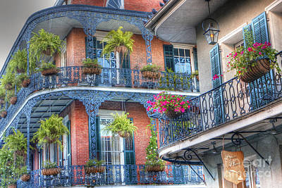 0255 Balconies - New Orleans Art Print by Steve Sturgill