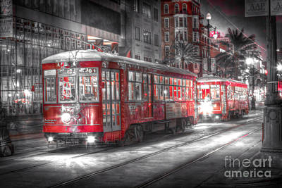 0271 Canal Street Trolley - New Orleans Art Print