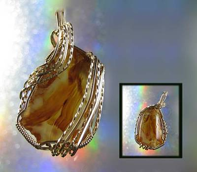 14k Gold Fill Jewelry - 0293 Carnelian Curtain by Dianne Brooks