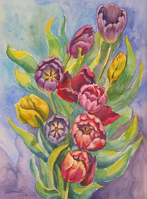 Painting - 03. Tulips by Les Melton