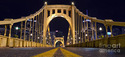 0304 Roberto Clemente Bridge Pittsburgh Art Print by Steve Sturgill