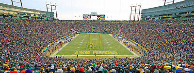 0349 Lambeau Field Panoramic Art Print by Steve Sturgill