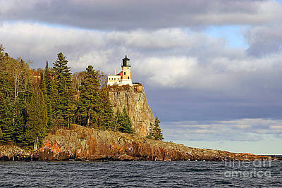 0376 Split Rock Lighthouse Art Print by Steve Sturgill