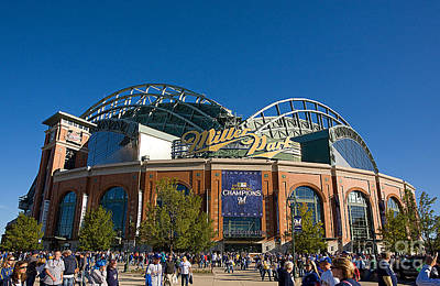 Baseball Royalty-Free and Rights-Managed Images - 0386 Miller Park Milwaukee by Steve Sturgill