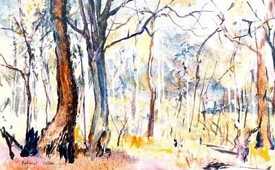 Painting - 04. The Bush Queensland Aus by Les Melton