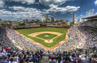 Baseball Royalty-Free and Rights-Managed Images - 0443 Wrigley Field Chicago  by Steve Sturgill
