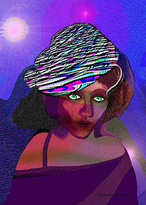 049 - She Came At Midnight  Art Print by Irmgard Schoendorf Welch