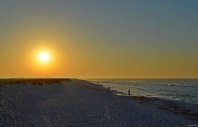 Photograph - 0501 Navarre Beach Sunrise Over Fishermen by Jeff at JSJ Photography