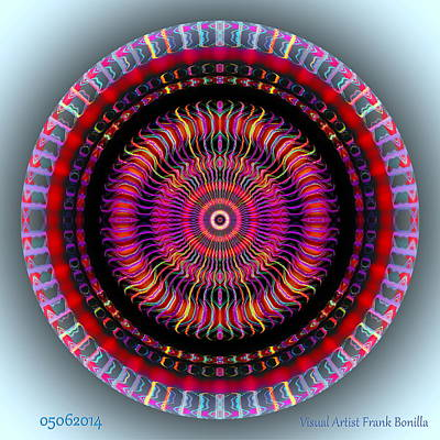 Round Digital Art - #05062014 by Visual Artist Frank Bonilla