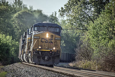 05.07.14 Csx Coal Train At Nortonville Ky Art Print by Jim Pearson