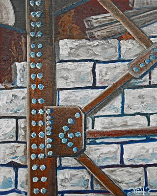 Rivets Painting - 052  Rivetered Too by Gregory Otvos