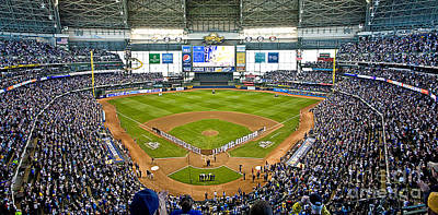 Baseball Royalty-Free and Rights-Managed Images - 0546 NLDS Miller Park Milwaukee by Steve Sturgill
