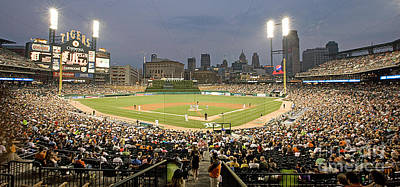 Baseball Royalty-Free and Rights-Managed Images - 0555 Comerica Park Detroit by Steve Sturgill