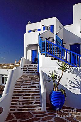 Blue Door Greece Photograph - 0557 Mykonos Greece by Steve Sturgill