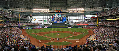 Sports Royalty-Free and Rights-Managed Images - 0613 Miller Park by Steve Sturgill