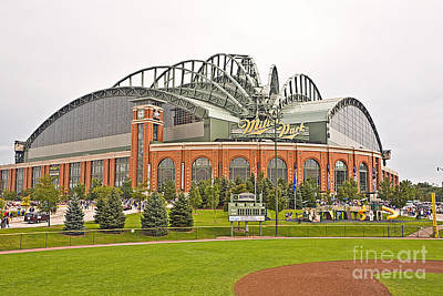0622 Milwaukee's Miller Park Art Print by Steve Sturgill