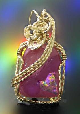 14k Gold Fill Jewelry - 0678 Fuchsia by Dianne Brooks