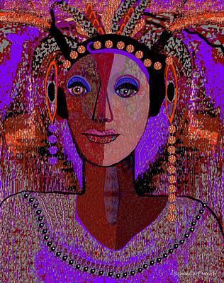 072 -  Exotic  Lady Violet   Art Print
