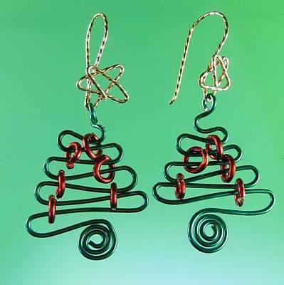 14k Jewelry - 0804 Wire Christmas Tree by Dianne Brooks
