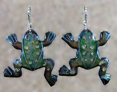 Jewelry - 0808 Froggie Duo by Dianne Brooks