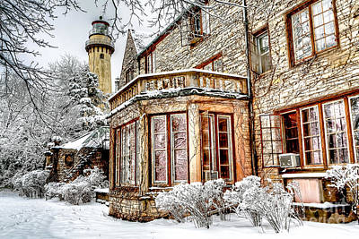 Evanston Photograph - 0871 Grosse Point Lighthouse - Evanston Illinois by Steve Sturgill