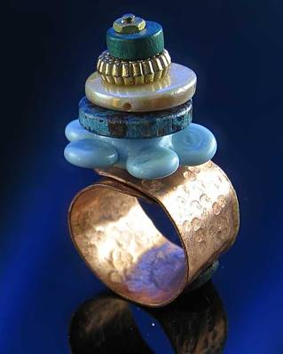 Jewelry - 0906 Blue Flower by Dianne Brooks