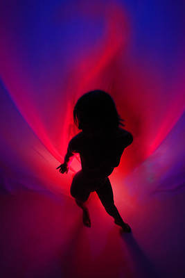 Photograph - 0907 Passion Series In Blue And Red by Chris Maher