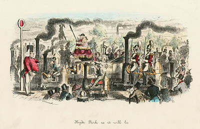 Hyde Park Drawing -                                    Hyde by Mary Evans Picture Library