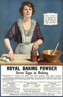 Nineteen-tens Drawing -  1918 1910s Usa Cooking Royal Baking by The Advertising Archives