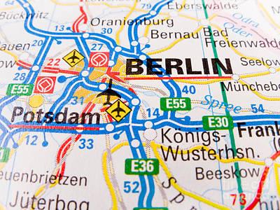 Maps Photograph -  Berlin by Jose Elias - Sofia Pereira